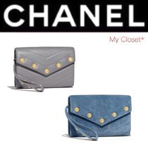 CHANEL ICON Dots Lambskin Studded Street Style 2WAY Chain Plain