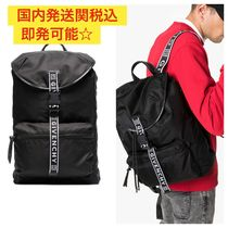 GIVENCHY Unisex Nylon Street Style Bi-color Plain Backpacks