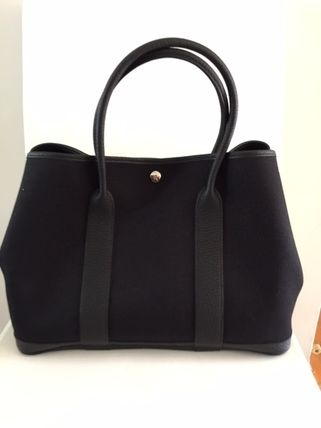 HERMES Totes Unisex Calfskin Street Style A4 Plain Totes 3