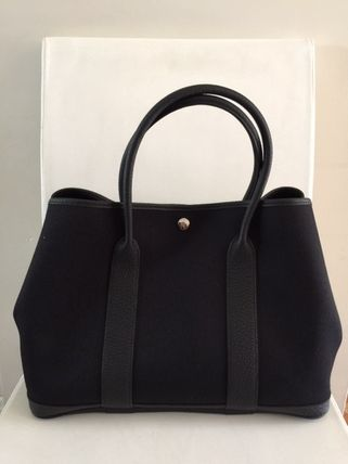 HERMES Totes Unisex Calfskin Street Style A4 Plain Totes 6