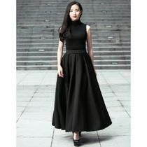Plain Long Party Style Maxi Skirts