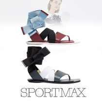 SPORT MAX Casual Style Plain Leather Sandals Sandal