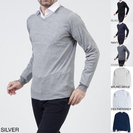 Long Sleeves Cotton Knits & Sweaters