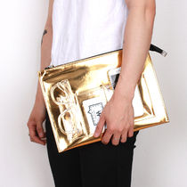 BASIC COTTON Unisex Street Style Plain PVC Clothing Clutches