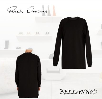 Crew Neck Street Style Long Sleeves Plain Cotton Oversized