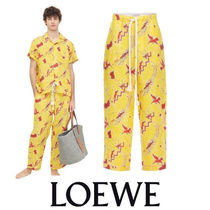 LOEWE Printed Pants Linen Bi-color Other Animal Patterns