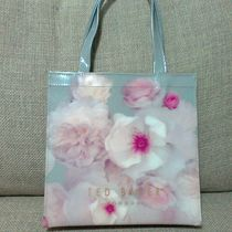 TED BAKER Flower Patterns Casual Style PVC Clothing Logo Totes
