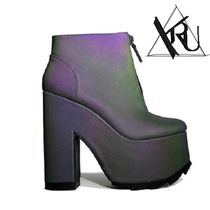 YRU Platform Casual Style Ankle & Booties Boots