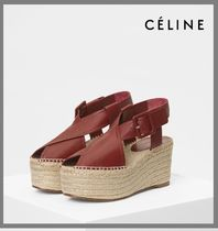 CELINE Open Toe Platform & Wedge Sandals