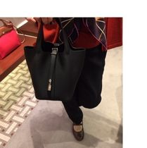 HERMES Picotin Casual Style Street Style Plain Leather Handbags