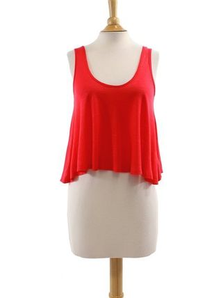 Short Casual Style Plain Tanks & Camisoles