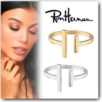 Ron Herman Costume Jewelry Casual Style Handmade 18K Gold Rings