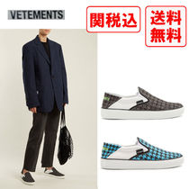 VETEMENTS Zigzag Casual Style Street Style Slip-On Shoes