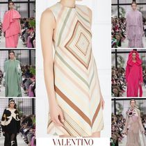 VALENTINO Short Wool Sleeveless Elegant Style Dresses