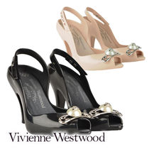 Vivienne Westwood Casual Style Blended Fabrics Studded Street Style Plain
