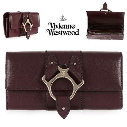 Leather Bold Long Wallets