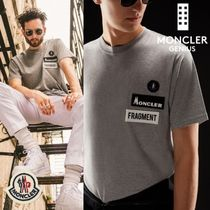MONCLER MONCLER GENIUS Unisex Street Style Collaboration Plain Cotton Short Sleeves