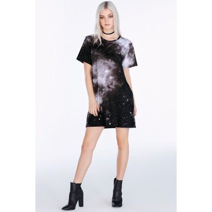 Short Star Casual Style Short Sleeves Dresses
