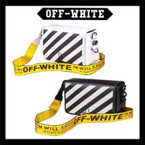 Off-White Stripes Street Style Leather Messenger & Shoulder Bags