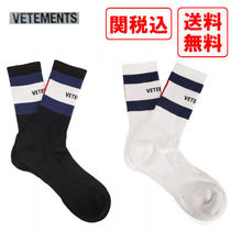 VETEMENTS Street Style Collaboration Cotton Undershirts & Socks