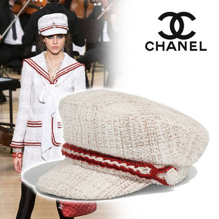 4de06d62ba7 CHANEL 2018-19AW Blended Fabrics Street Style Home Party Ideas Caps ...