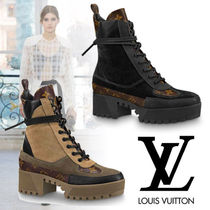 Louis Vuitton Monoglam Mountain Boots Rubber Sole Casual Style Leather