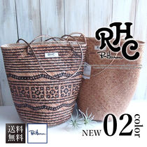 Ron Herman Casual Style A4 2WAY Plain Straw Bags