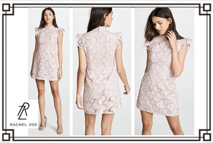 Short Flower Patterns Short Sleeves Elegant Style Dresses