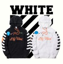Off-White Unisex Street Style Collaboration Hoodies