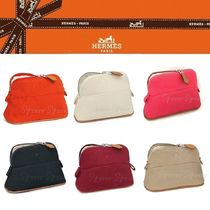 HERMES Bolide Plain Pouches & Cosmetic Bags