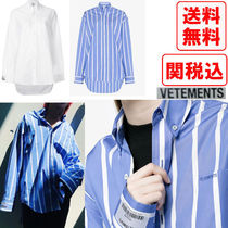 VETEMENTS Street Style Long Sleeves Cotton Shirts