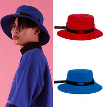 BASIC COTTON Unisex Street Style Bucket Hats Wide-brimmed Hats