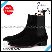 Christian Louboutin Suede Blended Fabrics Plain Chelsea Boots Chelsea Boots