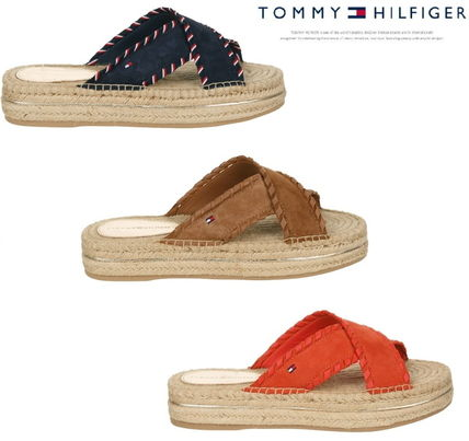 a7b80df1037b ... Tommy Hilfiger More Sandals Open Toe Casual Style Plain Leather Sandals  ...