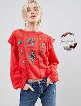Free People Flower Patterns Casual Style Tops