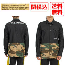 Off-White Camouflage Long Sleeves Cotton Shirts