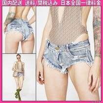 DOLLS KILL Short Casual Style Denim Plain Denim & Cotton Shorts