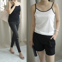 Casual Style Sleeveless Plain Medium Tanks & Camisoles
