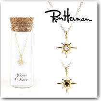 Ron Herman Star Chain 18K Gold With Jewels Elegant Style