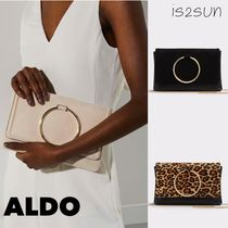 ALDO Leopard Patterns 2WAY Chain Plain Elegant Style Clutches
