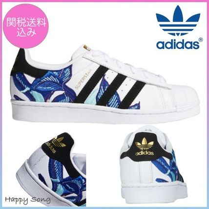 Casual Superstar Toe Flower Round Style 2018 Patterns Adidas Ss 9E2WDHI