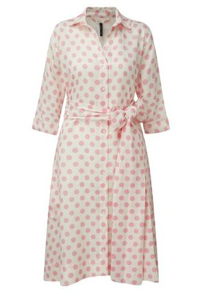 Short Dots Linen Shirt Dresses Dresses