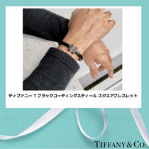 Tiffany & Co Tiffany T Bangles Unisex Street Style Plain Stainless Bracelets