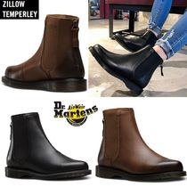 Dr Martens Rubber Sole Casual Style Plain Leather Chelsea Boots