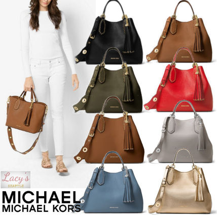 93dc53c1dcab ... Michael Kors Handbags Tassel Street Style 2WAY Plain Leather Handbags  ...
