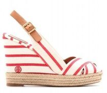 Tory Burch Stripes Open Toe Casual Style Platform & Wedge Sandals