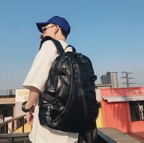 Faux Fur Street Style A4 Plain Backpacks