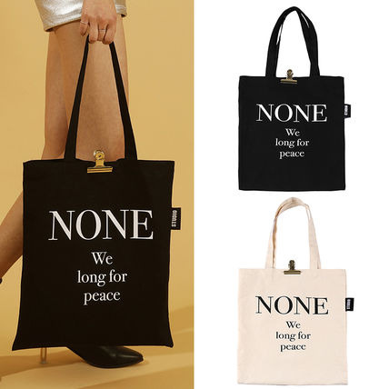 Casual Style Unisex Street Style A4 Totes