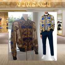VERSACE Short Street Style Bomber Jackets