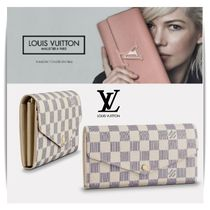 Louis Vuitton PORTEFEUILLE SARAH Other Check Patterns Leather Long Wallets